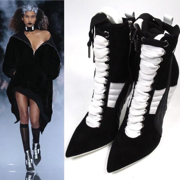 f0c3dadb053 ... Rihanna Lace Up Stiletto Ankle Boot. M 5a918383a44dbea0eebc659d